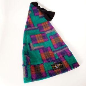 90s Vintage Perigee Fleece Geometric Ski Beanie